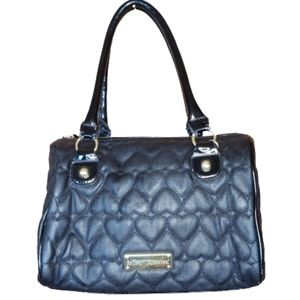 Betsey Johnson Quilted Heart Satchel